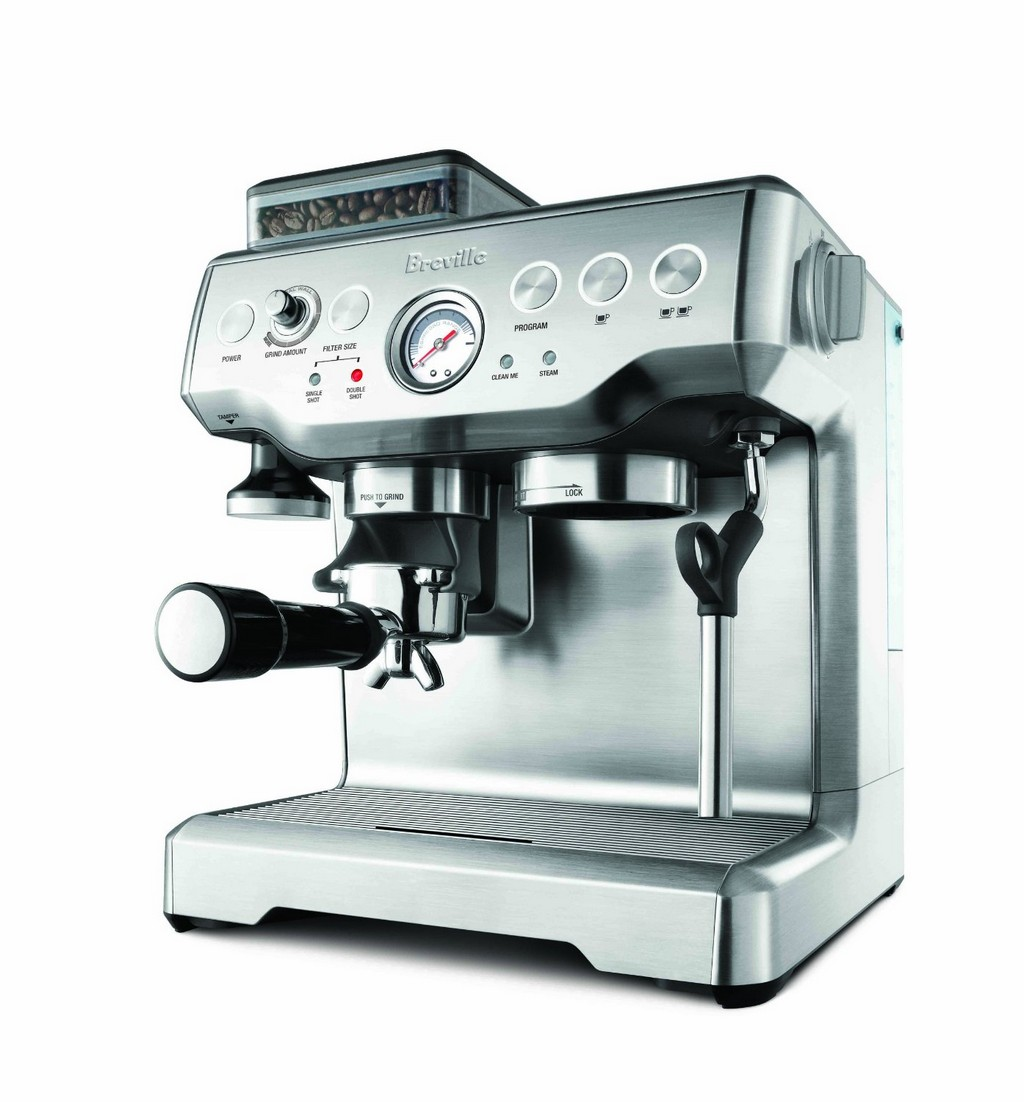 miniature espresso maker, stainless steel espresso maker, combination coffee maker and espresso machine
