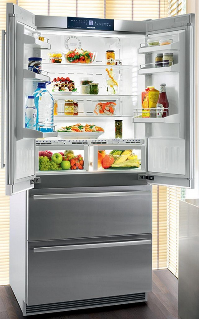 used refrigerator, retro refrigerator, white fridge