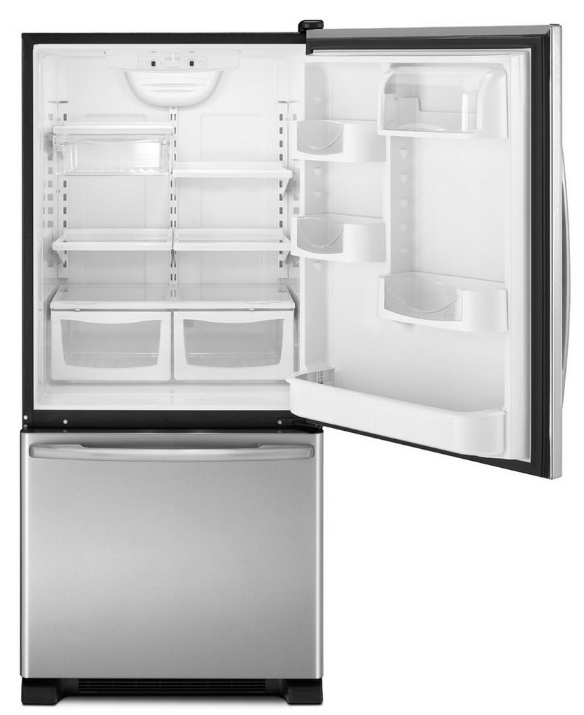 bottom freezer refrigerator, cabinet depth refrigerator, rockstar fridge