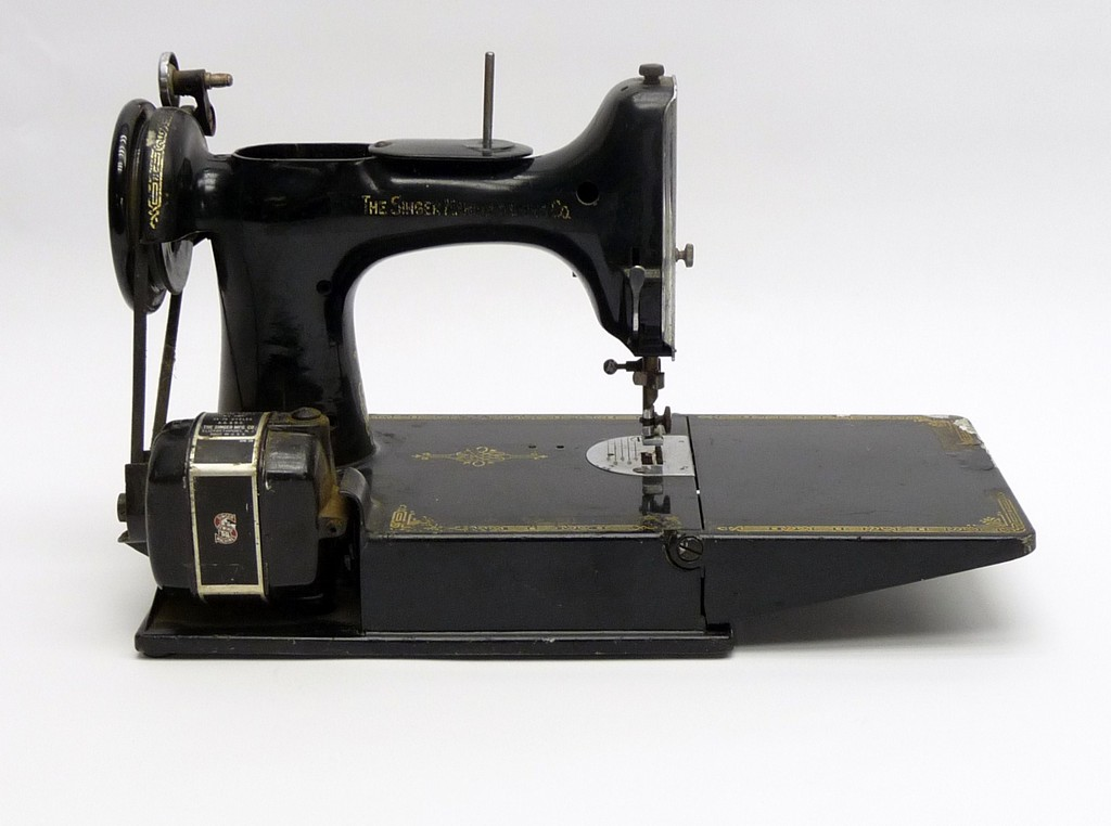vintage portable sewing machine, heavy duty sewing machine, white sewing machine