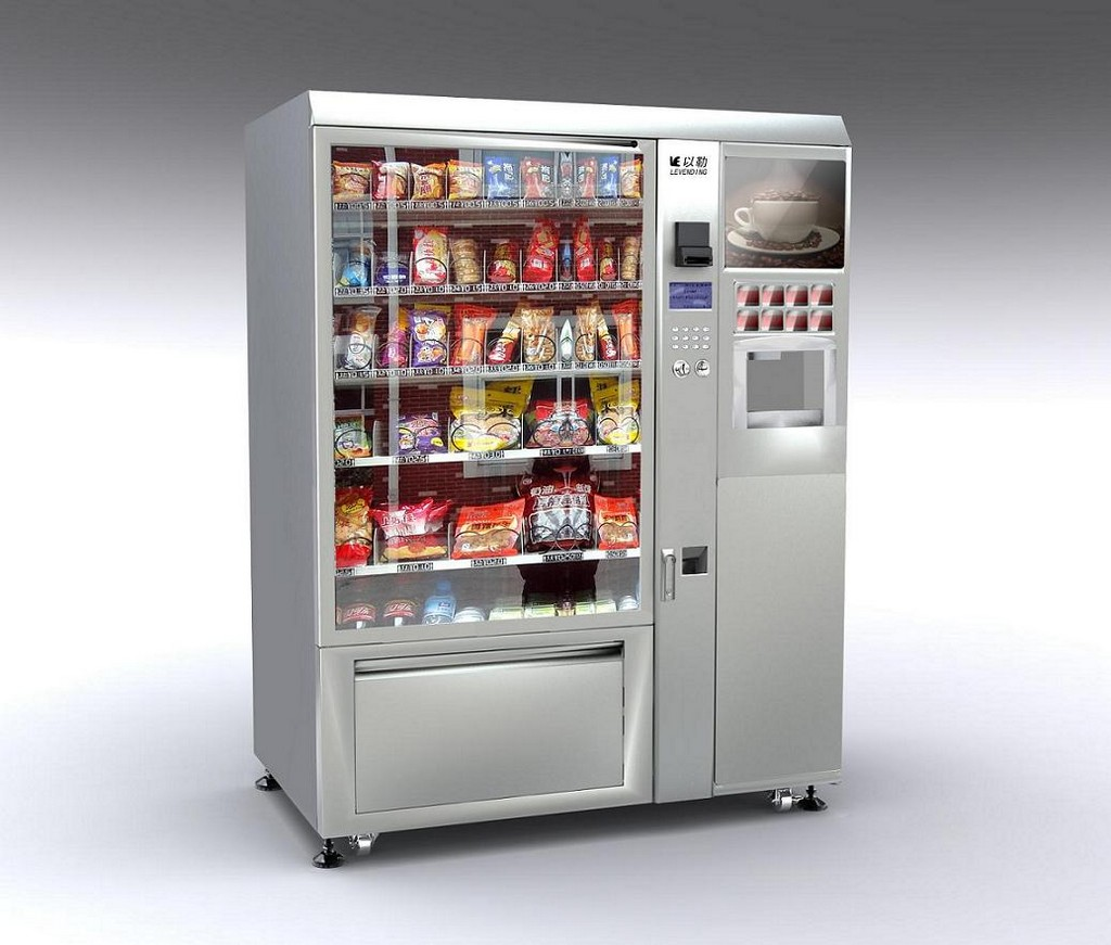 combo vending machine, drinks vending machine, beef jerky vending machine